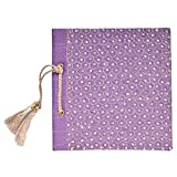 In Design Fabric Handmade Paper Photo Album (EH06, Purple)