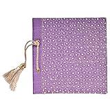 In Design Fabric Handmade Paper Photo Album (EH06, Purple)