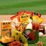 Manly Man's Sports Theme Gourmet Food and Snacks Gift Box