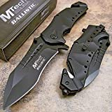 Mtech Rescue Modified Tanto Black Spring Assisted Open Tactical Pocket Knife