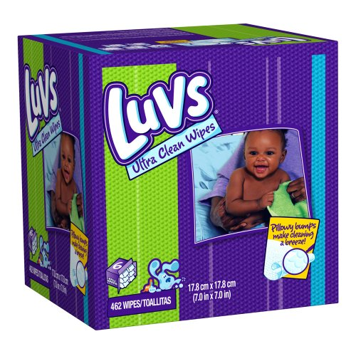 LUVS Ultra Clean Natural Aloe Wipes - 462 Ct