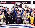 AUTOGRAPHED 2013 Jimmie Johnson #48 Lowes DAYTONA 500 WIN (Victory Lane with Trophy & Family) Signed 8X10 Picture NASCAR Glossy Photo with COA
