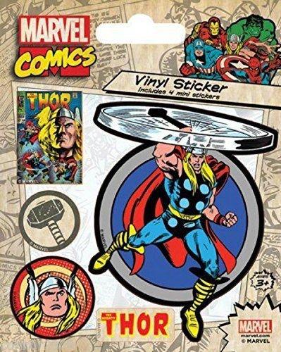 Marvel Comics Thor Retro Adesivo, 10x 12,5cm