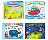 Baby Bath Books Plastic Coated Fun Educational Learning Toys for Toddlers Kids Set of all 4 Books