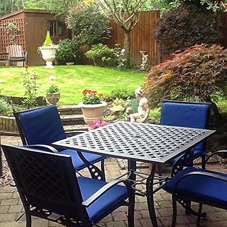 Lucy 91cm Quadratisches Gartenmöbelset Aluminium - 1 LUCY Tisch + 4 MARY Stuhle