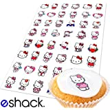 Cakeshop Basics 48 x Hello Kitty Edible Cake Toppers - Premium Wafer Paper