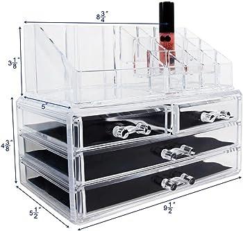 Ikee Design Acrylic Jewelry & Cosmetic Storage Set