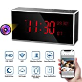 Hidden Camera, Monja PRO Spy Camera Clock, Real 1080P WiFi Cameras for Home, 160°Angle Wireless Nanny Cam, Superior 33FT IR Night Vision, Monitoring Detection, Loop Recording for Indoor Home Security (Color: Black)