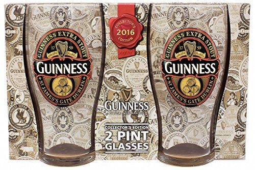 Guinness De Collection Edition 2 Pinte Paire De Lunettes 2016