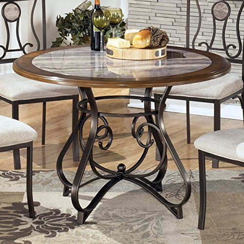 Signature Design by Ashley D314-15B Hopstand Collection Dining Room Table Base, Brown (Ashley Bed Parts compare prices)