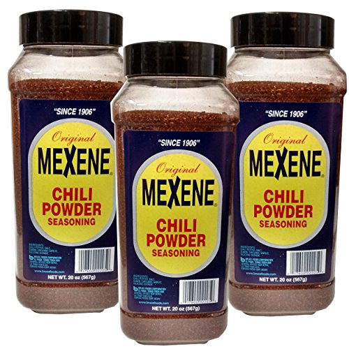 Mexene Chili Powder, 20-Ounce Plastic Canisters (Pack of 3) (Texas Chili Powder compare prices)
