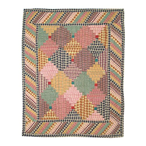 Patch Magic 36-Inch by 46-Inch Harvest Log Cabin Quilt Crib - 1