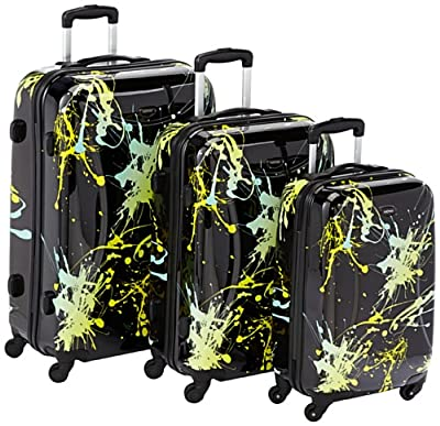 NOWI 24165 / 32300 Trolley Cases 3-Piece Set 70 x 48 x 30 cm / 60 x 40 x 27 cm / 50 x 34 x 22 cm Black / Yellow by NOWI