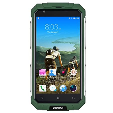 LUOWAN V9 PLUS Smartphone débloqué (Ecran : 5.0 pouces - 32 Go - Android) vert