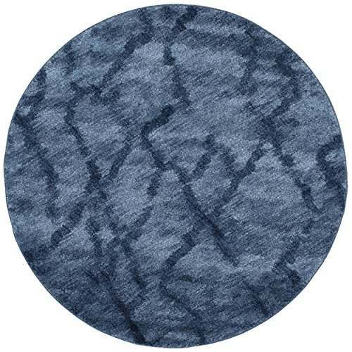 Safavieh Retro Collection RET2144-6570 Modern Abstract Blue and Dark Blue Round Area Rug (8' Diameter) 2