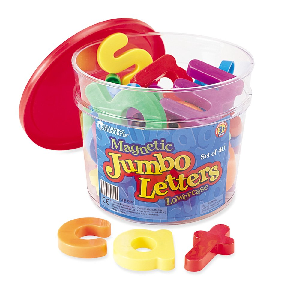 Learning Resources Jumbo Magnetic Lowercase Letters only $7.00 today only