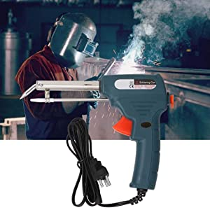 110v Electric Solderin Iron Manual Operation Send Tin Solder Wire Welding Repair Tool US 60W Green (US 110V) (Tamaño: US 110V)