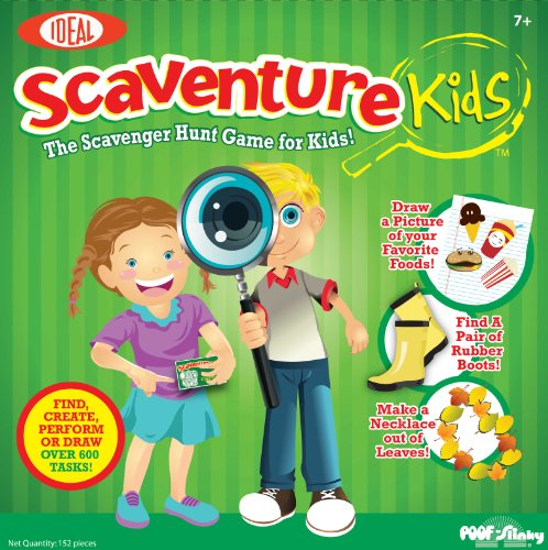 Poof-Slinky 0C690 Ideal Scaventure Kids Board Game
