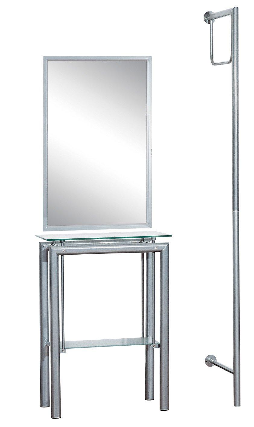 espejo, perchero y mesa de pasillo baratos