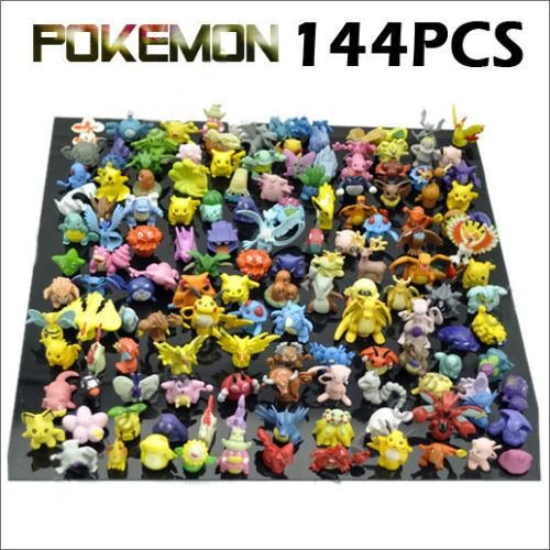 [144 PCS HOT New Cute Lots Pikachu Mini Random Pearl Figures Monsters Toy] (Giant Monster Costume For Sale)