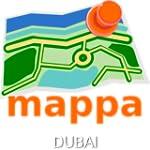 Dubai, UAE, Offline mappa Map - Dubai...