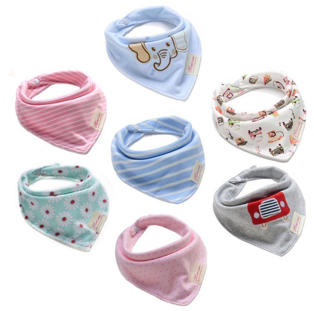 Amazon.com: Bestbaby Baby Bandana Drool Bib 7 Packs Super ...
