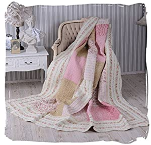 englische rosen tagesdecke patchwork shabby chic quilt palazzo exclusiv k che haushalt. Black Bedroom Furniture Sets. Home Design Ideas