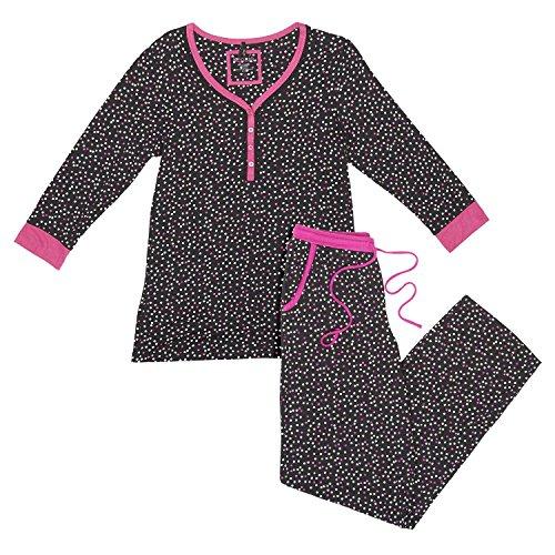 kensie-ladies-2-pc-pj-supremely-comfortable-henley-pj-set-medium-black