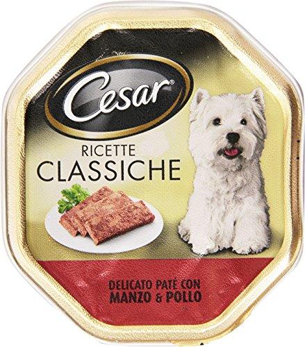 Cesar - Ricette Classiche, Alimento completo per cani adulti, Delicato Paté con Manzo e Pollo - 150 g