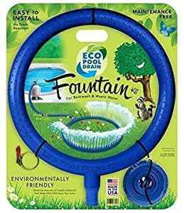 Pool drain eco pool drain wastewater hose fountain kit for 1 5 or 2 pool hose for How to drain a pool with a garden hose