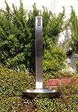 【fusion】ステンレスガーデン水栓(ロング) ステンレス水栓柱(ヘアライン仕上げ) 水鉢 庭用セット