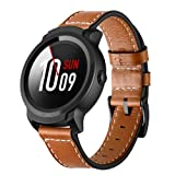 Kartice Compatible ticwatch e2/s2 Band,Ticwatch Mobvoi E2/s2 Bands Genuine Leather Strap Replacement Buckle Strap Wrist Band for Ticwatch Mobvoi E2/s2 GPS Fitness Smartwatch. (Color: Brown)