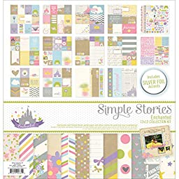 Simple Stories Enchanted Collection Kit, 12 by 12\