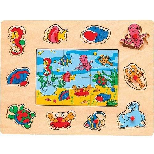 Cheap Puzzled Ocean Life – Peg & Jigsaw Wooden Puzzle (B0041DRNZ2)