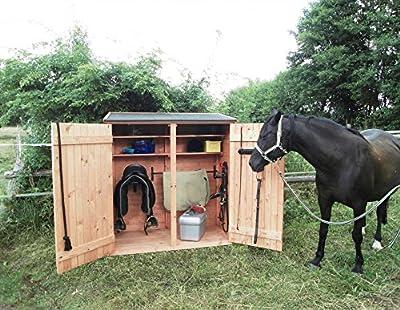 Holz-Sattelschrank Geräteschrank Gerätehaus Schuppen Schrank von Promadino auf Gartenmöbel von Du und Dein Garten