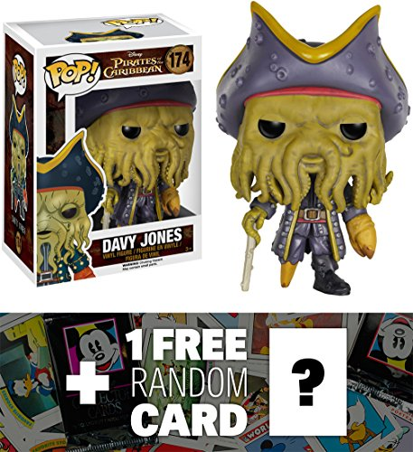 Davy Jones: Funko POP! x Disney Pirates of the Caribbean Vinyl Figure + 1 FREE Classic Disney Trading Card Bundle [71097]