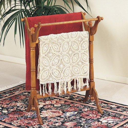 Powell Blanket Rack Stand - Nostalgic Oak Blanket Racks