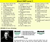 Word 2007 Training Videos - 11 Hours of Word 2007 training by Microsoft Office Specialist Master Instructor: 2000 XP (2002) 2003 2007 and Microsoft Certified Trainer (MCT) Kirt Kershaw