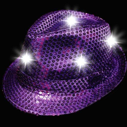 LED Sequin Fedora - Purple