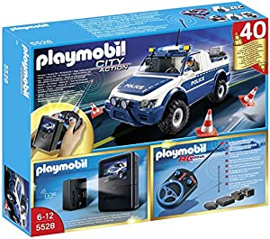 Playmobil 5528 City Action RC 40th Anniversary Police Truck with Camera Set