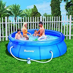 Bestway 57109gs fast set pool 305 x 76 cm mit pumpe for Pool aufblasbar mit pumpe