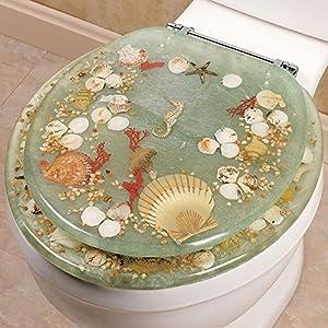 Amazon Com Seashell And Seahorse Resin Toilet Seat
