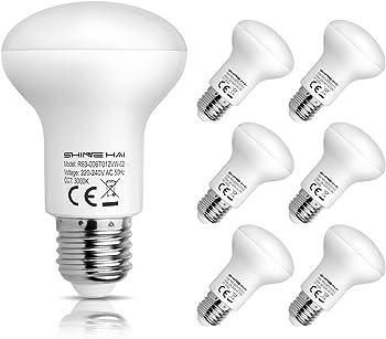 6-Pk Shine Hai R63 Reflector E27 6W LED Light Bulb