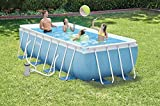 Intex Ultra Frame Pool Set, blau / grau, 488 x 488 x 122 cm, 19,16 L, 28322GN