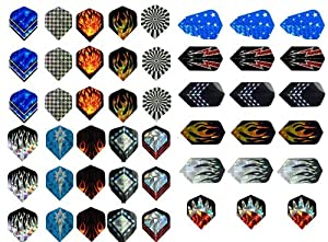 50%off-New 16 Sets (48 pcs) of Darts 2D and Aluminium Flights Assorted Wholesale