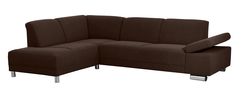 Coolnezz 30228-264-2051692 Sofa 2,5 Sitzer mit Ecksofa links Bandit Strukturgewebe, schoko