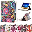 32nd� Designer book wallet PU leather case cover for Apple iPad 2 3 4 + screen protector and cloth - Jellyfish