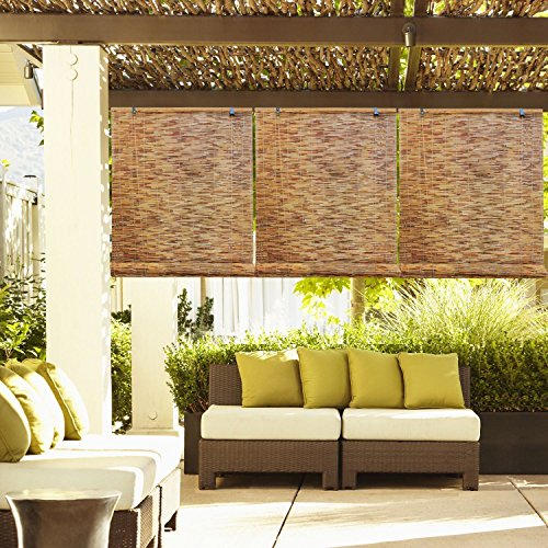 (Ship from USA) Outdoor Patio Garden Natural Reed Woven Wood Bamboo Roll Up Shade Window Blinds /ITEM NO#E8FH4F854135512 (Outdoor Bamboo Shades Roll Up compare prices)