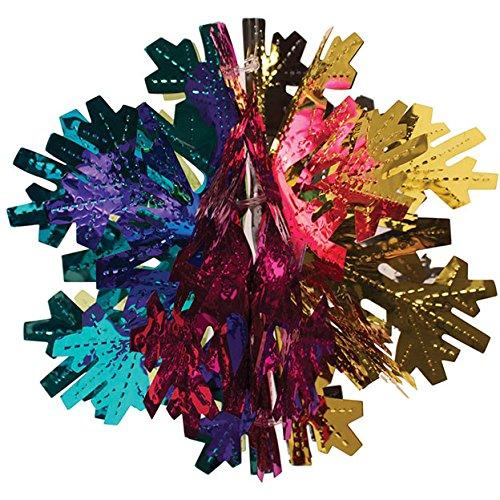 Creative Converting 3D Hanging Foil Décor, Snowflake Design, Multicolor