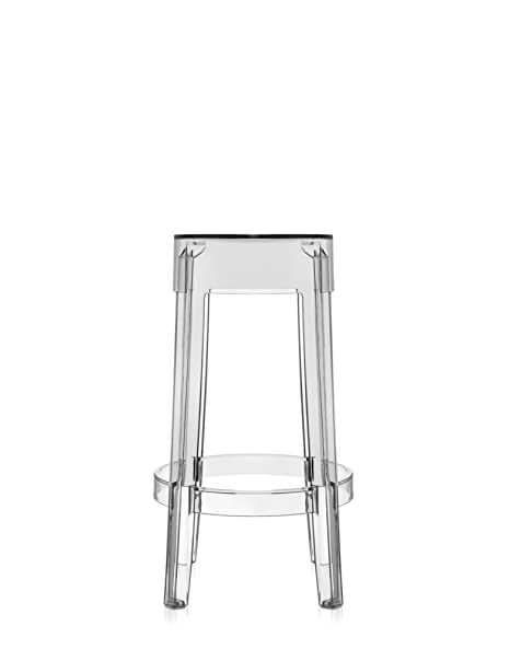 Charles Ghost Stool 65cm transparent/seat height 65cm